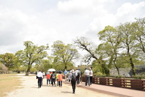 熊本城、二の丸広場
