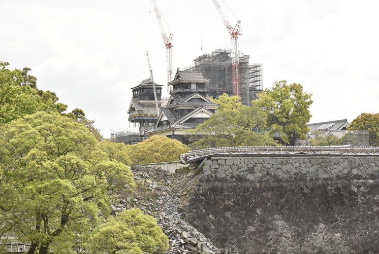 熊本城、小天守、大天守、宇土櫓