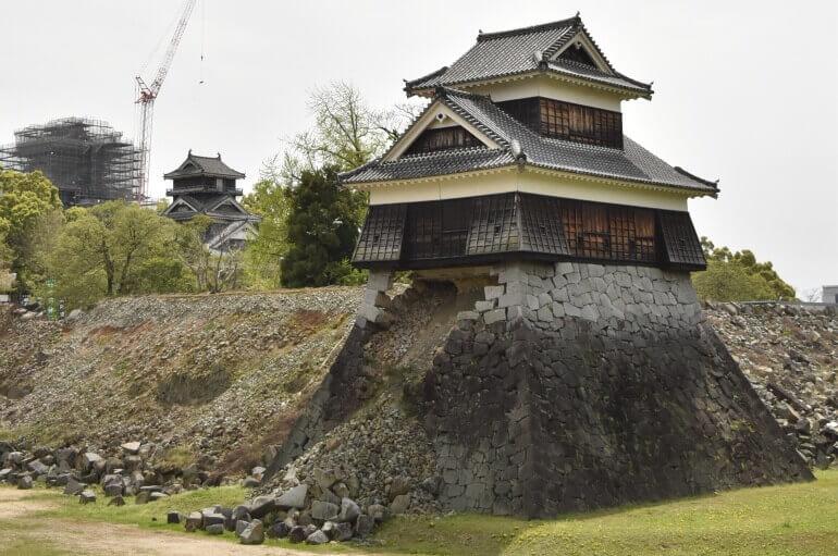 戌亥櫓、熊本城、石垣