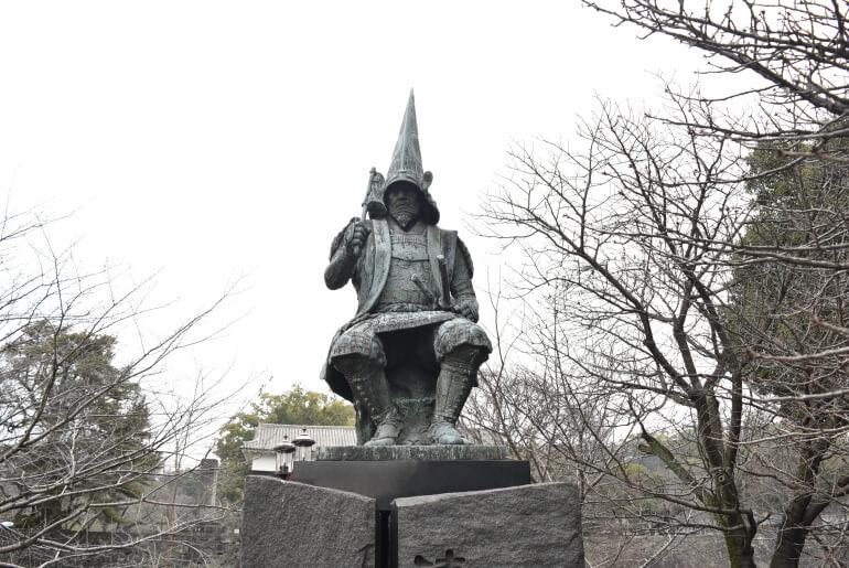 加藤清正公像、熊本城南側、坪井川、飯田丸五階櫓