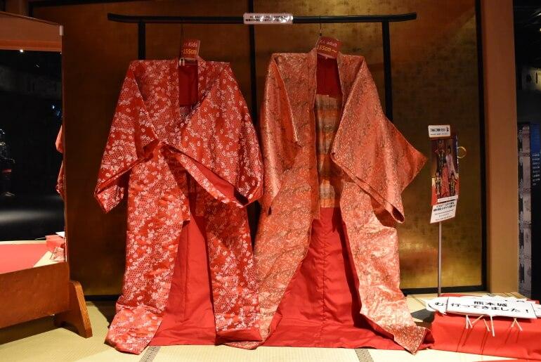 熊本城ミュージアムわくわく座、打掛衣装