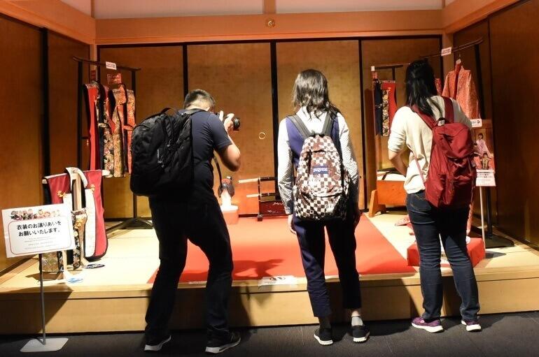 熊本城ミュージアムわくわく座、衣装、撮影