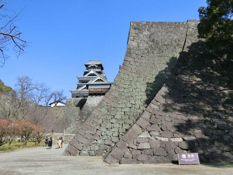 熊本城、二様の石垣