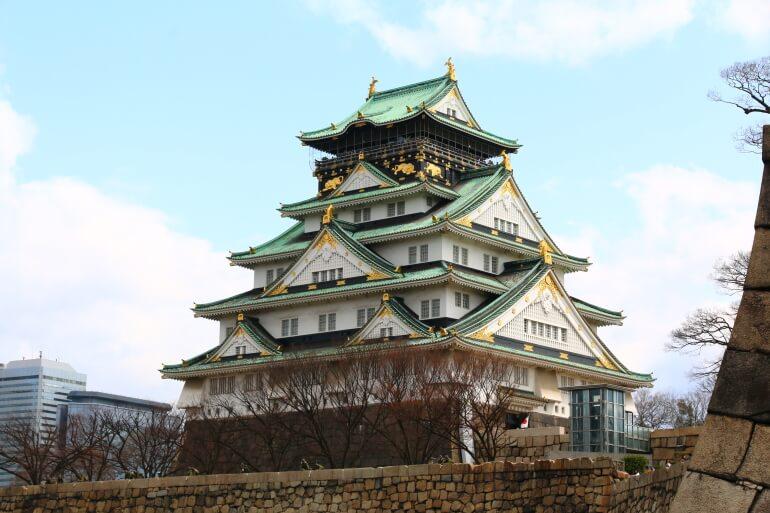 大阪城、天守台、戦前