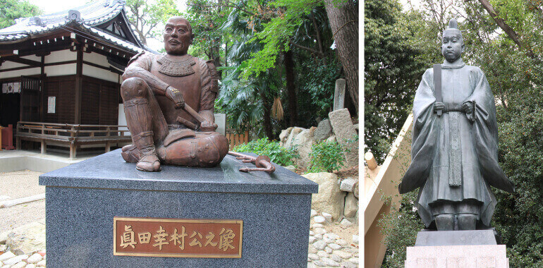 真田信繁、豊臣秀頼、銅像、大阪城