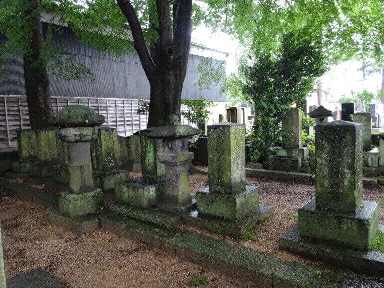 白河口、墓所