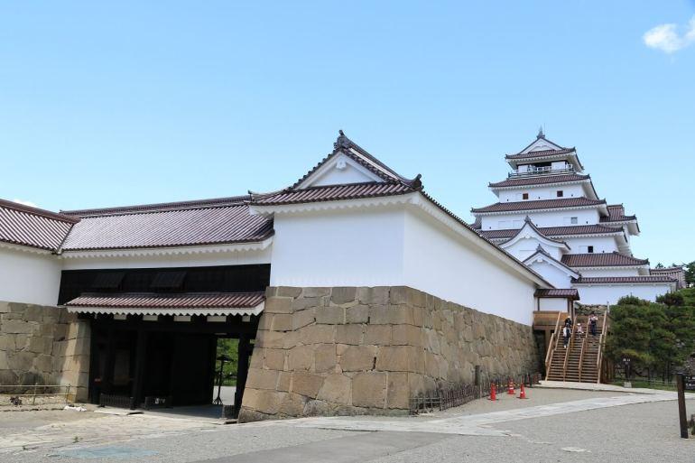 会津若松城、鉄門、鉄板、指揮所