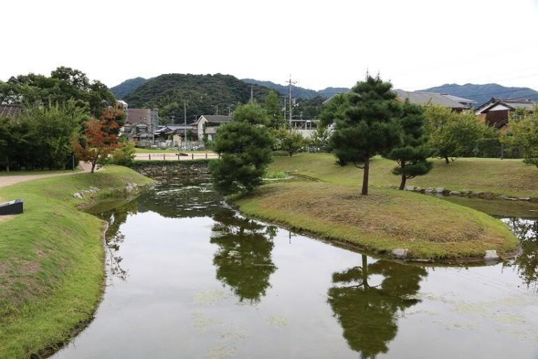 池泉庭園、大内氏館