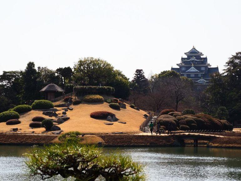 後楽園、岡山城、庭園