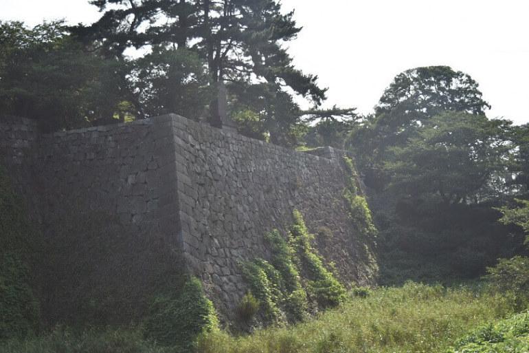 久留米城、本丸、石垣