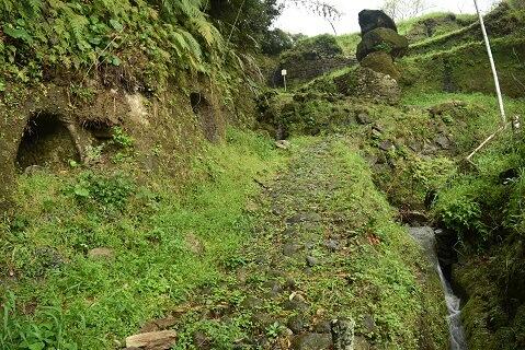 石畳、登城道、日野江城