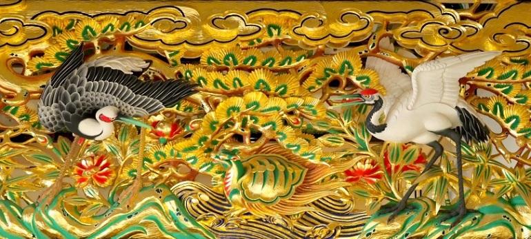 上洛殿、名古屋城、欄間彫刻