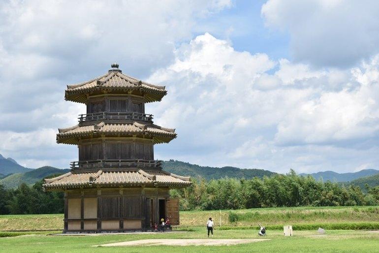 鞠智城、八角型鼓楼、シンボル