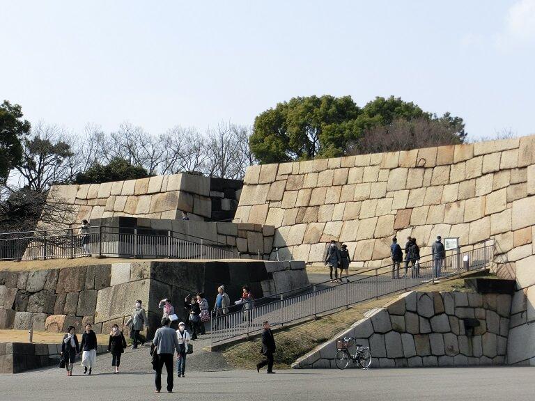 江戸城、石垣