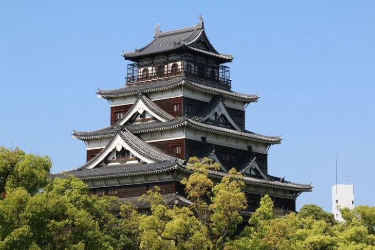 広島城、天守、自壊