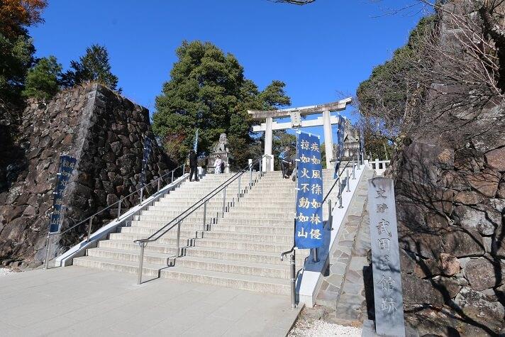 武田信玄、躑躅ヶ崎館、武田神社、境内