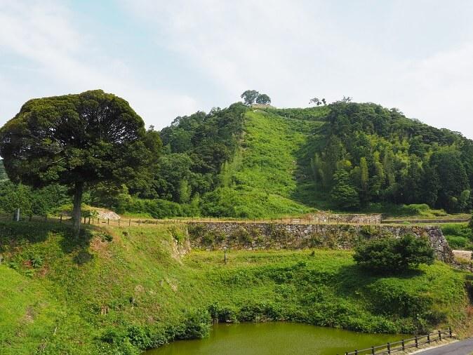 月山富田城、七曲り道、二の丸、石垣