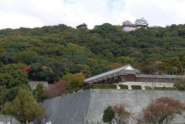 松山城、二の丸庭園、ロシア人捕虜、収容所
