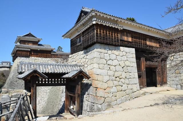 松山城、筒井門、隠門
