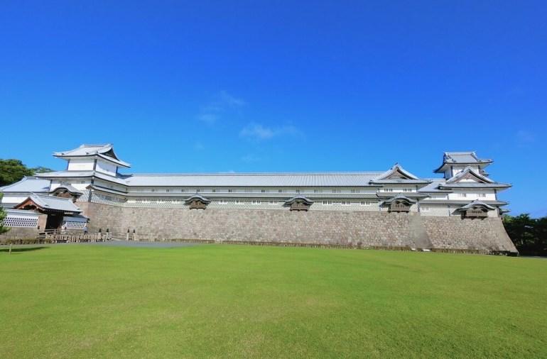 橋爪門続櫓、五十間長屋、菱櫓、金沢城