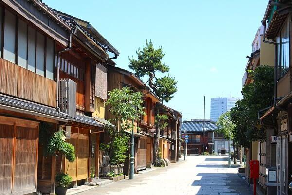 金沢城、にし茶屋街