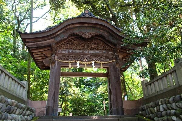 尾山神社、東神門、二の丸、唐門、彫刻