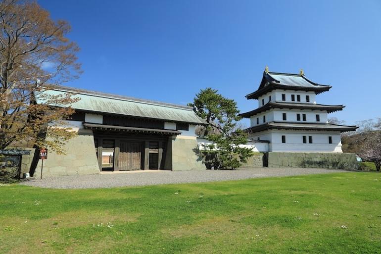 松前城、日本式城郭