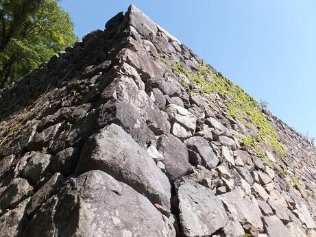 高取城、本丸、天守台、石垣