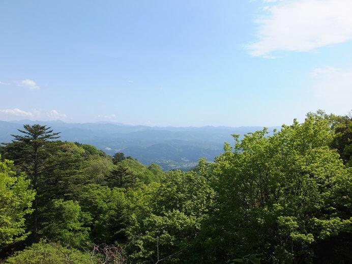 高取城、本丸、奈良盆地