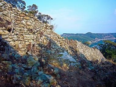 金田城、城壁