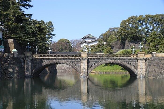 皇居、江戸城、正門石橋、伏見櫓、二重橋