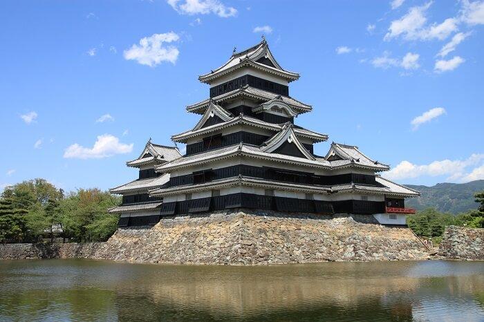 松本城、天守、連結複合式天守、石落し、狭間、月見櫓
