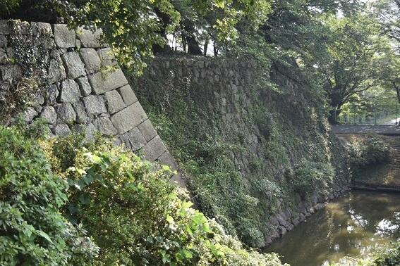 久留米城本丸、高石垣