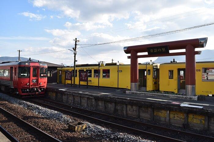 豊後森駅、童話の里、鳥居