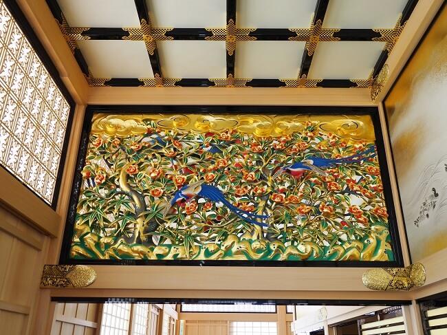名古屋城、上洛殿、欄間、彫刻、装飾、天井