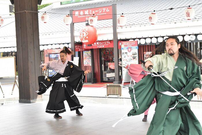 熊本城、おもてなし武将隊、パフォーマンス