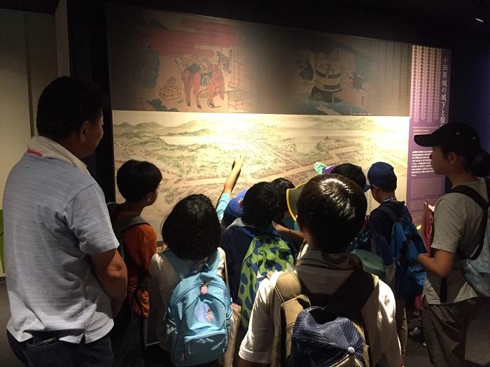 小田原城、天守閣内、絵図、模型、資料