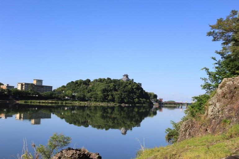 犬山城、濃尾平野