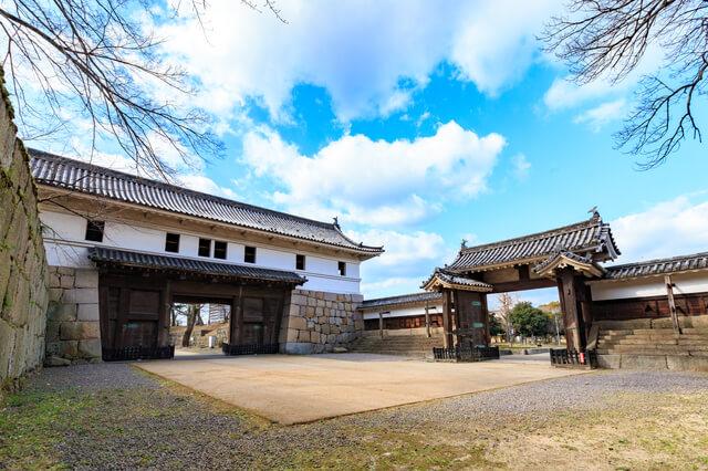 大手一の門、櫓門、高麗門、丸亀城