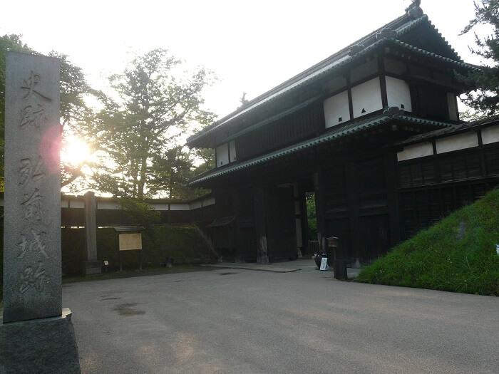 弘前城、追手門