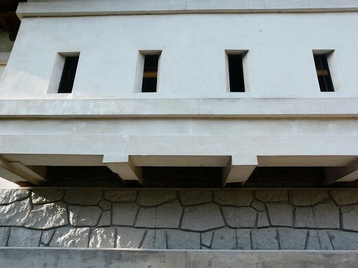 弘前城、石落とし