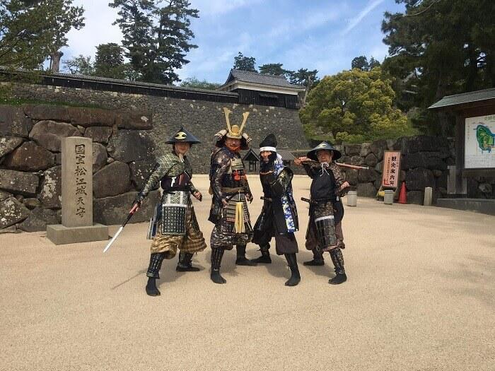 まつえ時代案内人、松江城