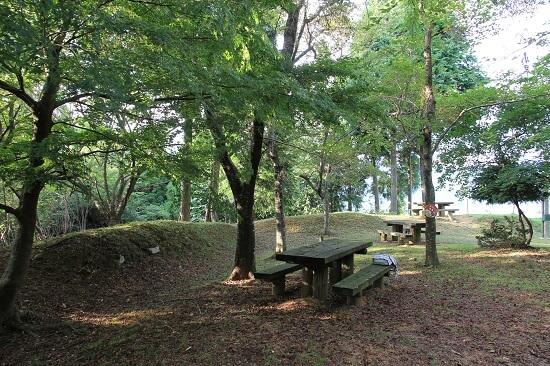 松尾山、城砦、堀、土塁、
