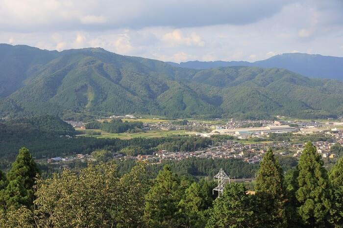 松尾山、一望、