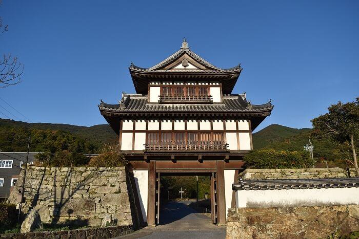 金石城、櫓門、復元