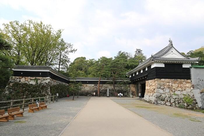 高知城、追手門、内桝形門