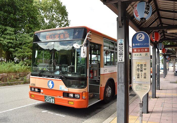篠山口駅西口、バス