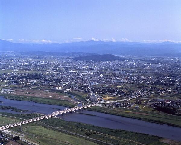 刀水橋、太田金山城、利根川