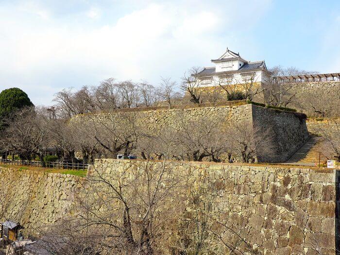 石垣、津山城、