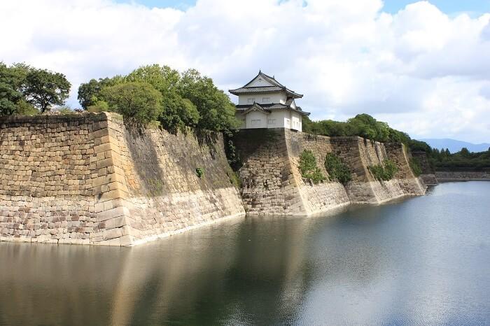 大坂城、南外堀、石垣